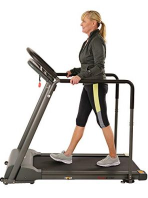 Sunny Health, Fitness Walking Treadmill with Low Wide Deck